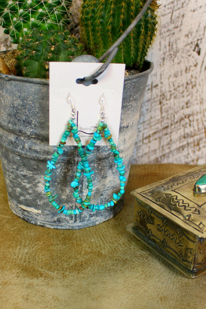 Turquoise Teardrop Earrings - L Trading