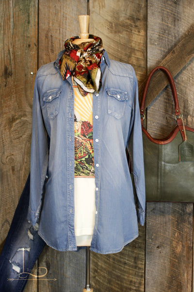The New Chambray Tunic - L Trading