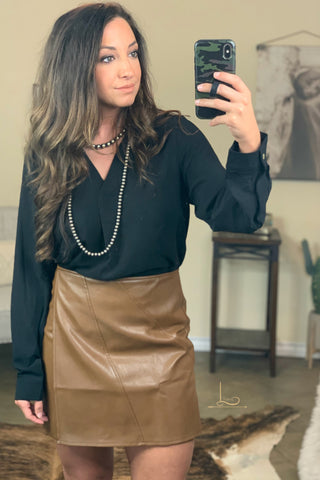 The Carmen Faux Leather Skirt