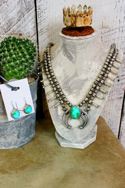 The Sedona Squash Blossom Necklace & Earrings - L Trading