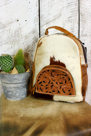 The Tucson Cowhide Mini Backpack