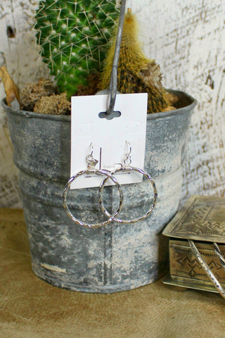 Hammered Sterling Hoops