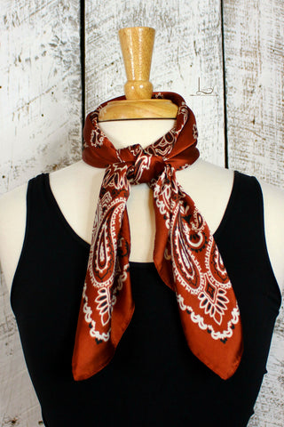 Brown Bandana Wild Rag