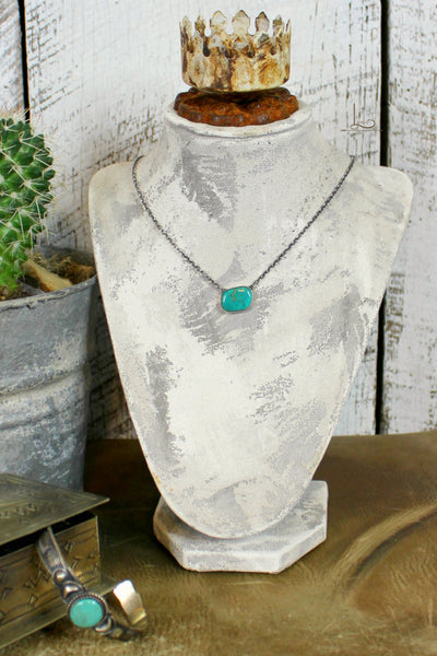 Love Tokens Turquoise Choker - L Trading