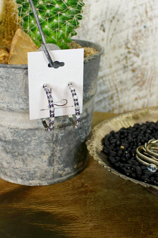 White Buffalo Sterling Hoops