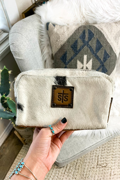 Cowhide Cosmetic Bag - L Trading