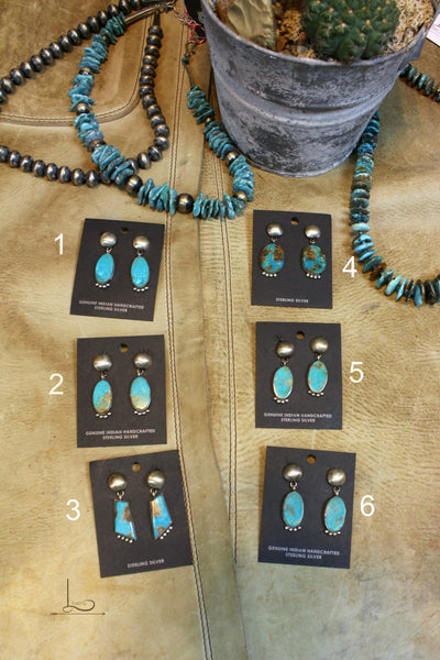 Royston Turquoise Earrings - L Trading