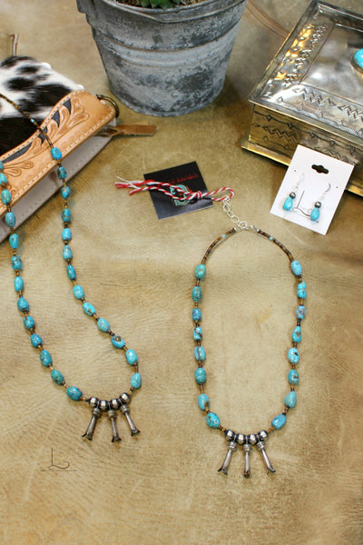 The Turquoise &  Squash Blossom Necklace