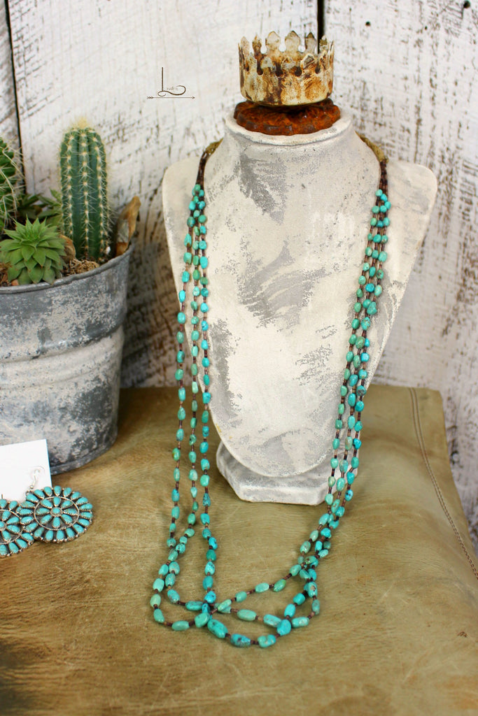 Vintage 3 Strand Turquoise Necklace