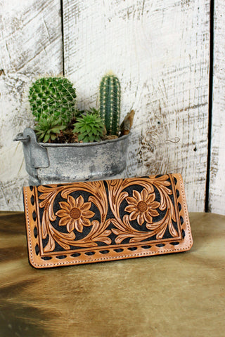 The Texas Plains Tooled Wallet