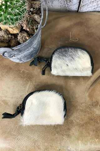 The Vaquera Cowhide Coin Purse in Black