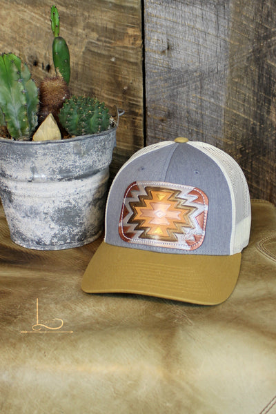 Metallic Aztec Patch Cap - L Trading