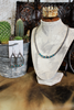 "18"" Navajo Pearls with Turquoise Necklace & Teardrop Earrings"