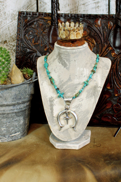 Turquoise Necklace with Sterling Naja