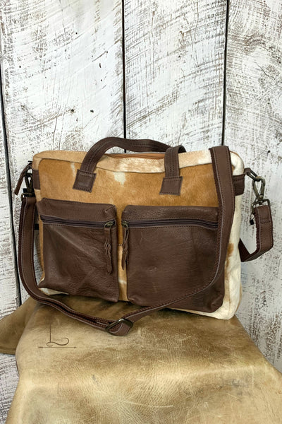 Cowhide Travel Tote