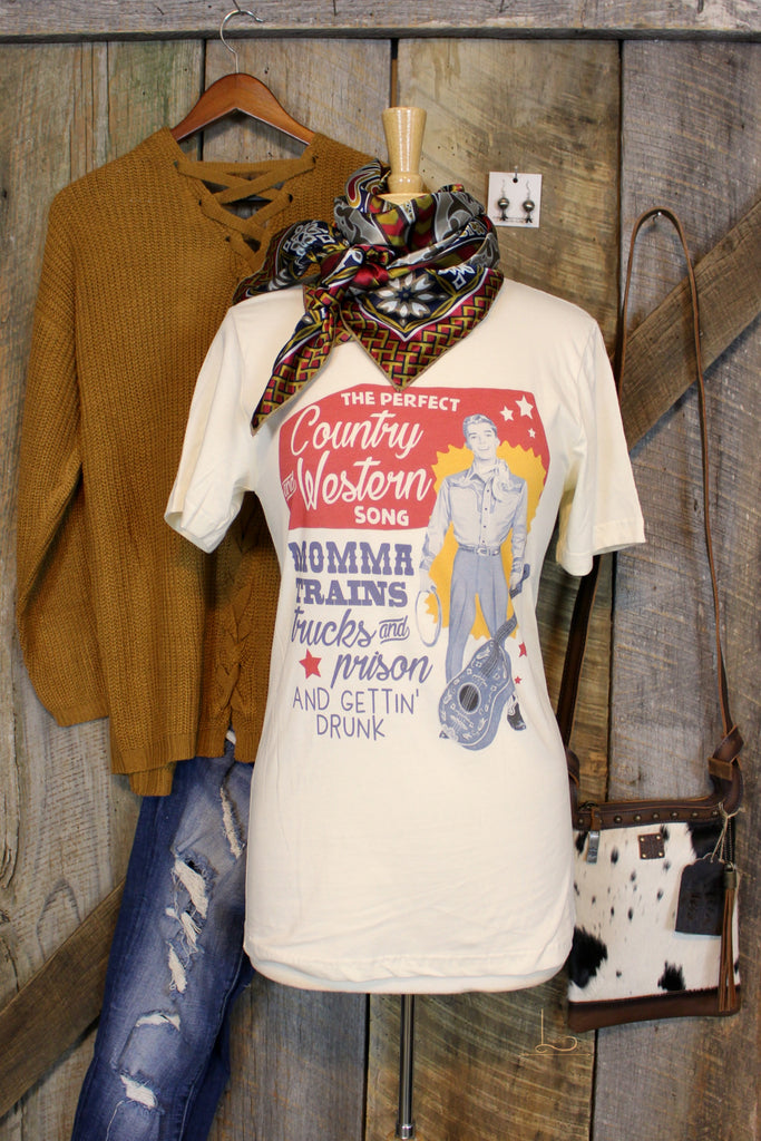 The Perfect Country & Western Song- Graphic Tee - L Trading