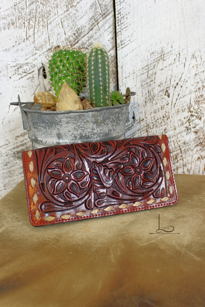 The Great Plains Tooled Wallet