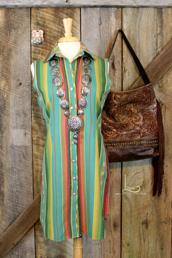 Silverado Verde Serape Dress/Duster - L Trading