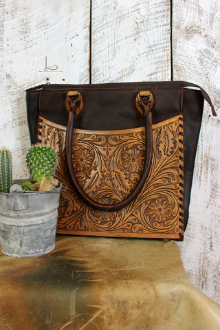 The Tooled Front Tote