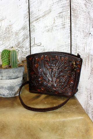 The Cafe Viejo Tooled Leather Crossbody