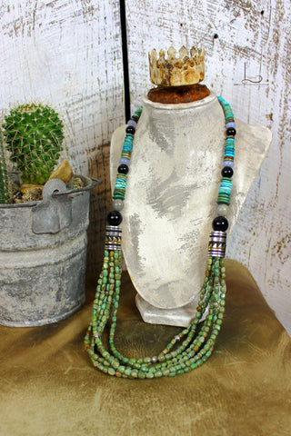 The Verde Turquoise Singer Necklace