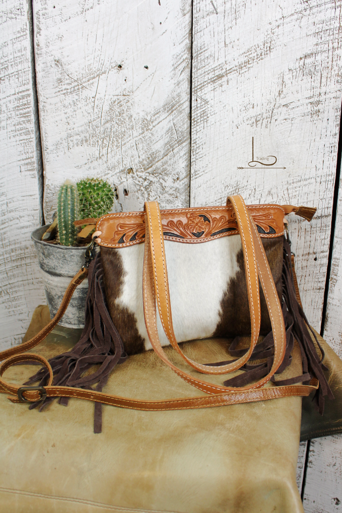 The Mini Riata Cowhide Tote