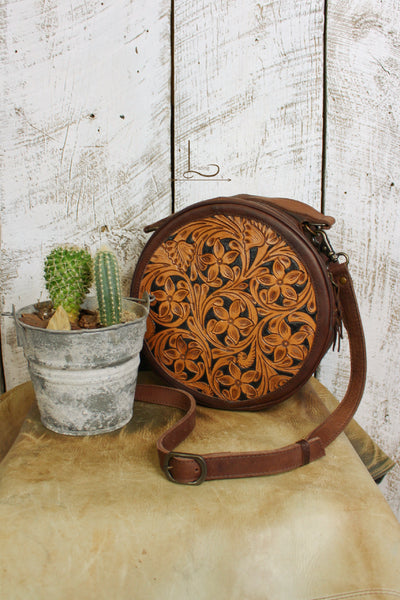 The Tooled Leather Canteen Tote