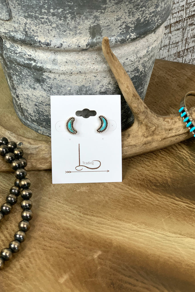 Turquoise Moon Studs - L Trading