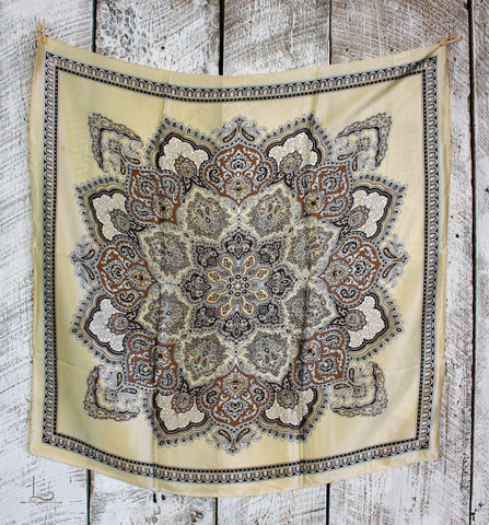 The Tan Paisley Silk Wild Rag