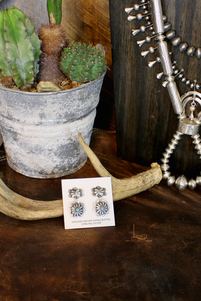 Sterling Floral Concho Dangles - L Trading