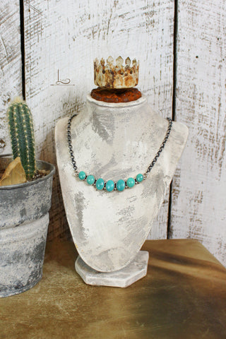 Siete Turquoise Bar Necklace