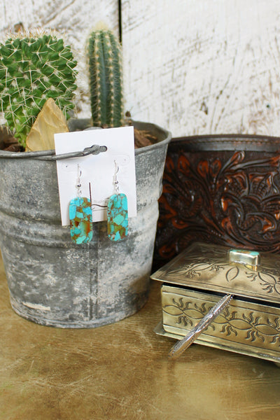 Pequeno Turquoise Slab Earrings