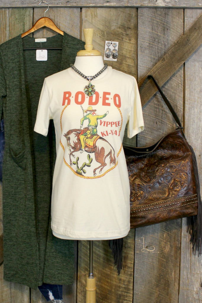 RODEO Yippee Ki-Yay Graphic Tee - L Trading