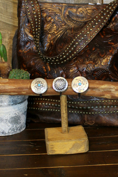 Large Sterling Concho Hair Ties - L Trading
