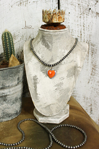 Spiny Oyster Heart Pendant