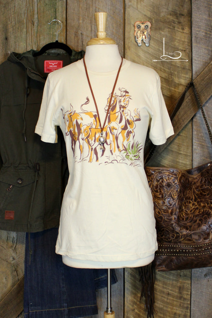 Cattle Drive - Graphic Tee - L Trading