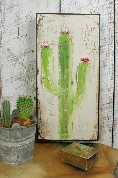 The Blooming Cactus Wall Art