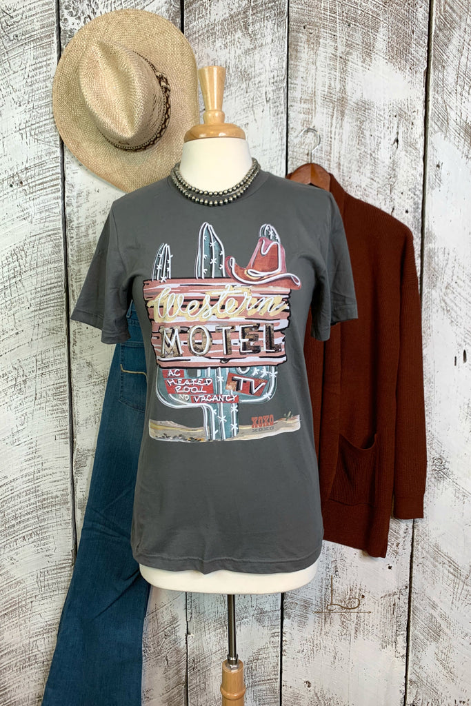 Western Motel Graphic Tee - L Trading