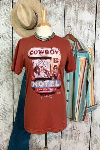 Cowboy Bar Motel Graphic Tee