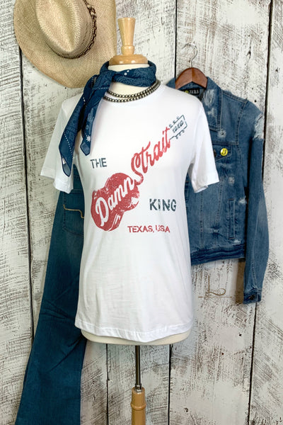 "The ""Damn Strait"" King Graphic Tee - L Trading"
