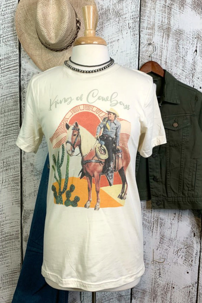 King of Cowboys Graphic Tee - L Trading