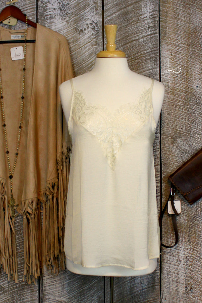 Cream Lace Cami - L Trading