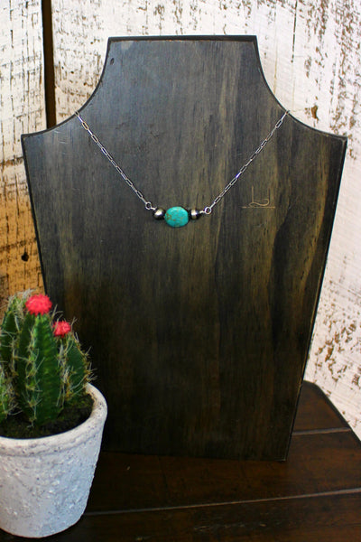 CC Turquoise & Navajo Pearl Necklace - L Trading