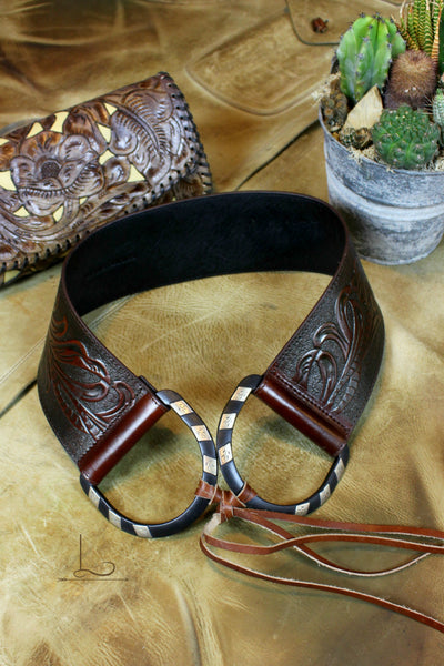 D-Ring Tooled Belt - L Trading