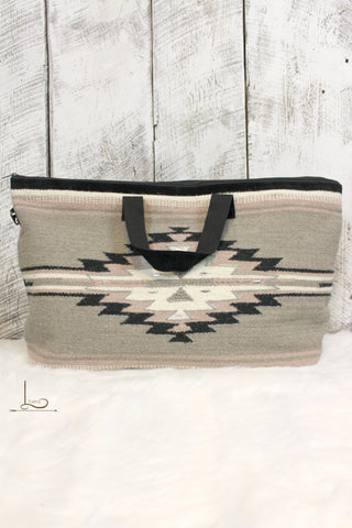 Blush Aztec Travel Bag