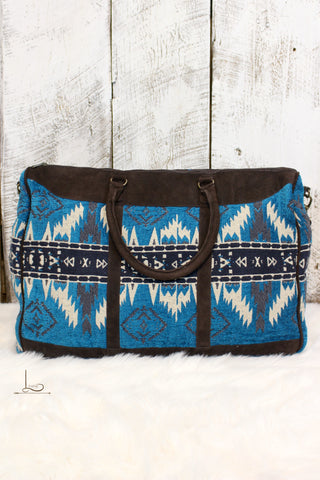 Blue Aztec Travel Bag