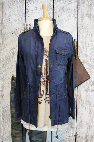 Denim Anorak Jacket - L Trading