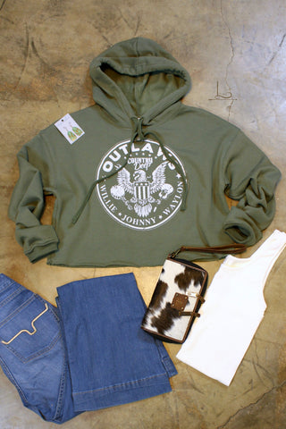 Outlaws Cropped Hoodie