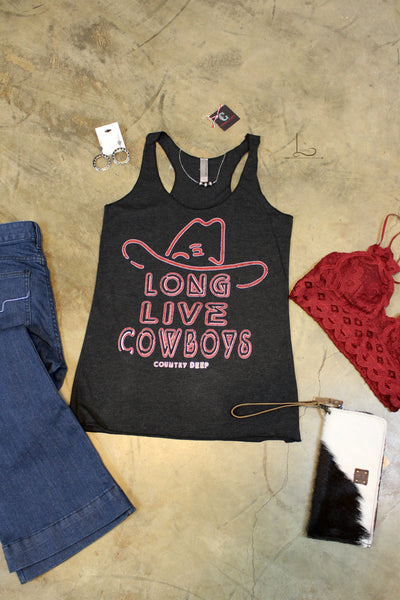 Long Live Cowboys Graphic Tank - L Trading
