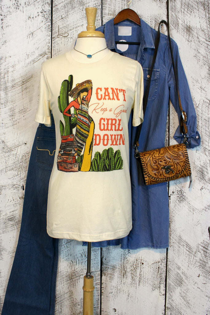 Can't Keep a Good Girl Down Graphic Tee - L Trading